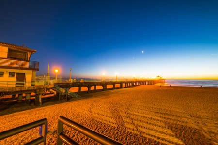 Clear night in Hermosa Beach, California