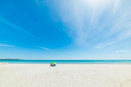La Cinta beach on a sunny day, Sardinia