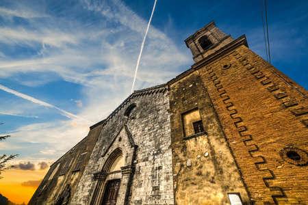 montepulciano: Santa Maria dei Servi church in Montepulciano, Italy