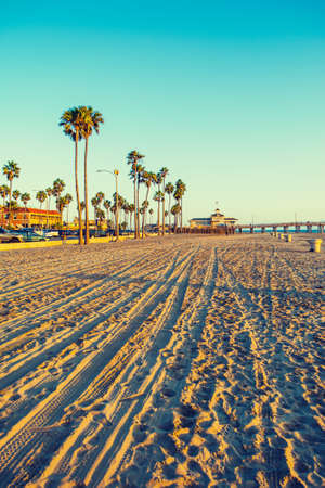 Newport Beach at sunset, California