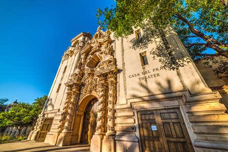 Casa del Prado in San Diego, California Editorial