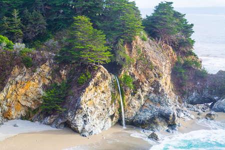 big sur: McWay Falls in Big Sur state park, California