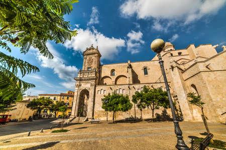 San Nicola cathedral in Sassari, Italy 스톡 콘텐츠