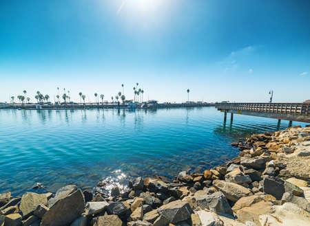 Rocks in Oceanside, California Stock Photo