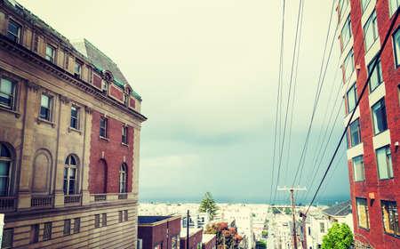 grey sky in San Francisco, California Stock Photo