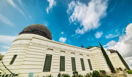 Griffith Observatory in Los Angeles, California Editorial