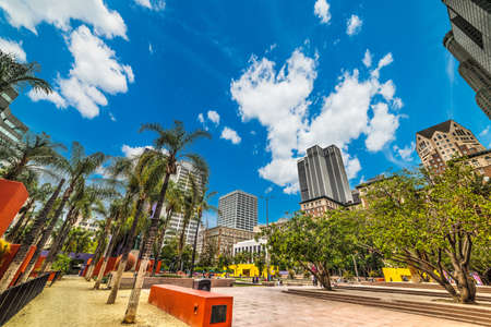 pershing: Pershing square in downtown Los Angeles, California