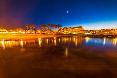 Coronado beach seen at night, California