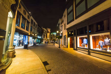 Boutiques in Rodeo Drive, California