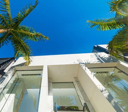 Elegant buildings in Beverly Hills, California Éditoriale