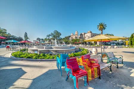 Fountain in Balboa park, California Stock Photo