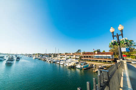 Balboa island in Newport Beach, California