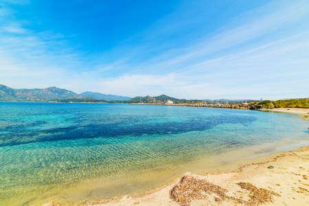 fortezza: Fortezza Vecchia beach shoreline, Sardinia Stock Photo