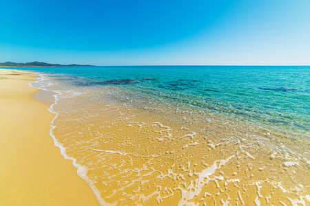 Golden shore in Costa Rei. Sardinia, Italy Stock Photo