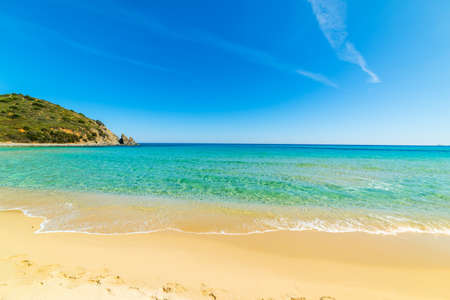 Sandy shore in Cala Monte Turno. Sardinia, Italy Stock Photo