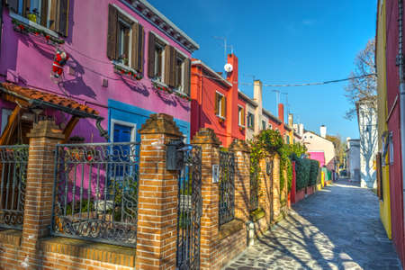 characteristic: Colorful buildings in Burano, Italy