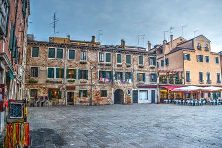 characteristic: Rustic square in Venice, Italy Stock Photo