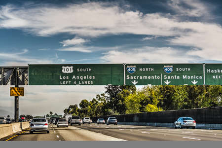 101 freeway in Los Angeles. California, USA