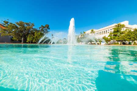 Fountain in Balboa park. California, USA