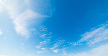nebulosity: blue sky with white, soft clouds Stock Photo