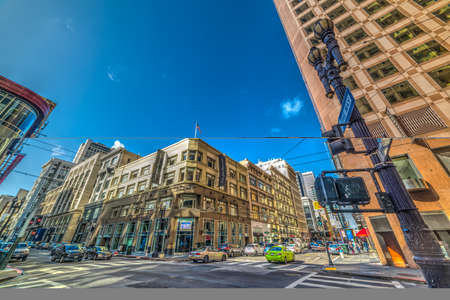 San Francisco, CA, USA - October 30 2016: City life in Financial District