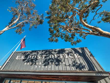 Balboa Island post office on a sunny day, California