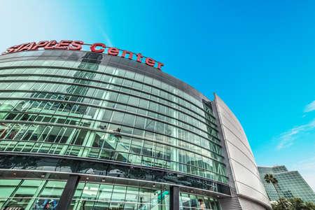 Los Angeles, Californie - 27 octobre 2016: Staples Center Arena au centre-ville de Los Angeles Éditoriale