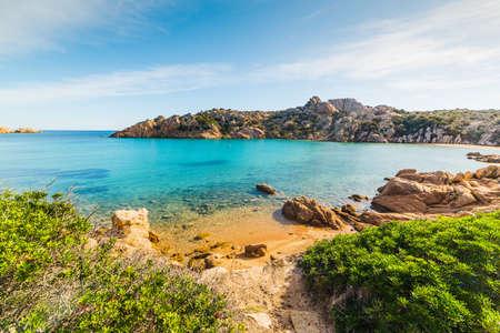 Spalmatore strand op het eiland La Maddalena, Sardinië Stockfoto
