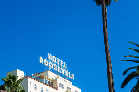 LOS ANGELES, CALIFORNIA - NOVEMBER 2, 2016: Roosevelt Hotel in Hollywood boulevard Editorial