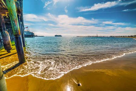 Wooden pier in Santa Barbara, California