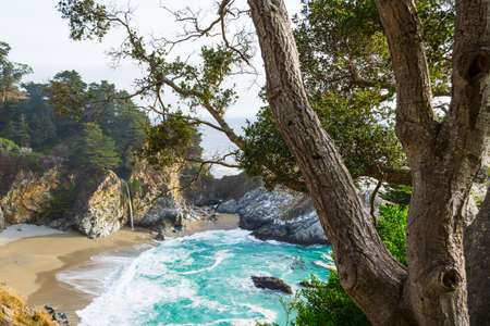 Mc Way waterfalls in Big Sur state park, California Stock Photo