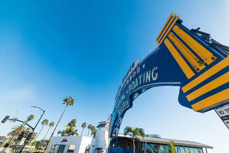 Santa Monica, CA, USA - November 03, 2016: Welcoming arch on a sunny day Editorial