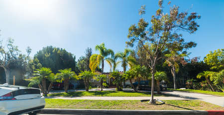 Luxury neighborhood in Los Angeles, California Banco de Imagens