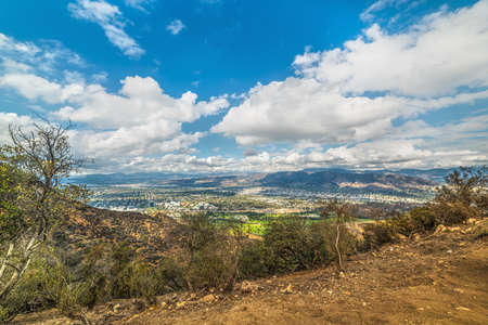 Clouds over San Fernando valley, Los Angeles. California, USA