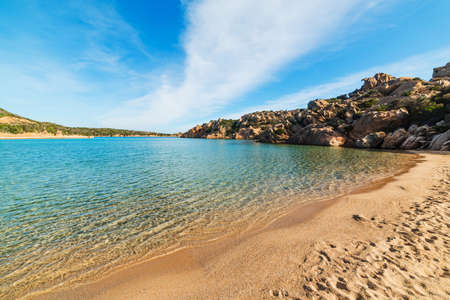 Colorful shore in Spalmatore beach in La Maddalena. Sardinia, Italy 스톡 콘텐츠