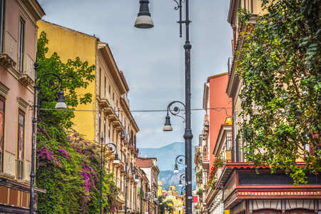 Beautiful buildings in downtown Sorrento. Campania, Italy