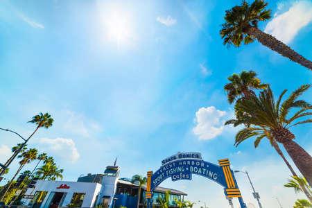 Santa Monica, CA, USA - November 03, 2016: Santa Monica welcoming arch on a sunny day