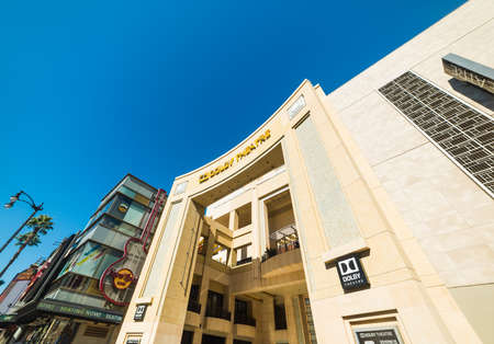 Los Angeles, CA, USA - November 02, 2016: World famous Dolby Theater in Hollywood boulevard under a clear sky