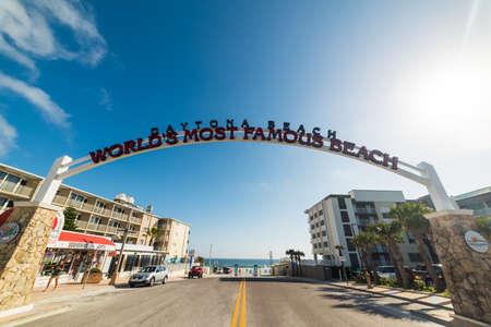 Daytona Beach, USA - February 23, 2019: Welcoming Arch in Daytona Beach