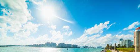 Miami Beach coast on a sunny day. Southern Florida, USA Reklamní fotografie