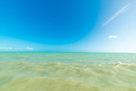 Turquoise water and blue sea in Higgs Beach in Key West, USA
