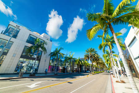Rodeo Drive in Beverly Hills. Los Angeles, California