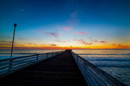 Wooden pier in Pacific Beach in San Diego. Southern California, USA Banco de Imagens