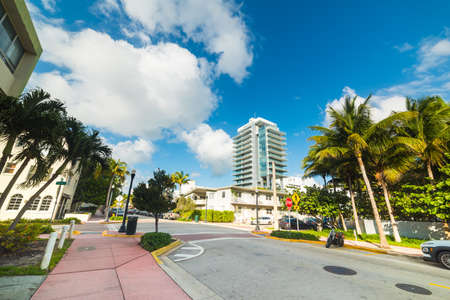 Clouds over Miami Beach, USA 版權商用圖片