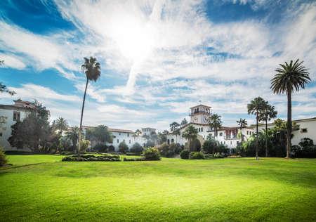 Santa Barbara versunkene Gärten an einem bewölkten Tag. Kalifornien, USA