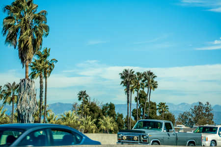 Traffic in Pacific Coast Highway in Southern California, USA