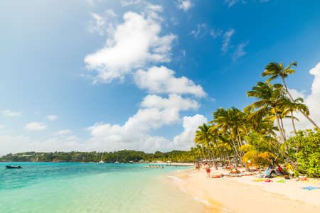 Clouds over La Caravelle beach in Guadeloupe, French west indies. Lesser Antilles, Caribbean sea Banque d'images