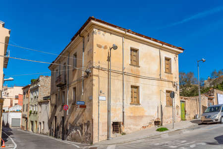 Picturesque corner in Nuoro on a sunny day. Sardinia, Italy