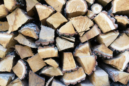 Firewood background. Horizontal orientation.