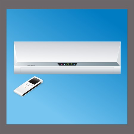 fixture: air conditioner with remote control Illustration